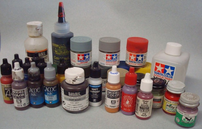 paint types for scale modelers